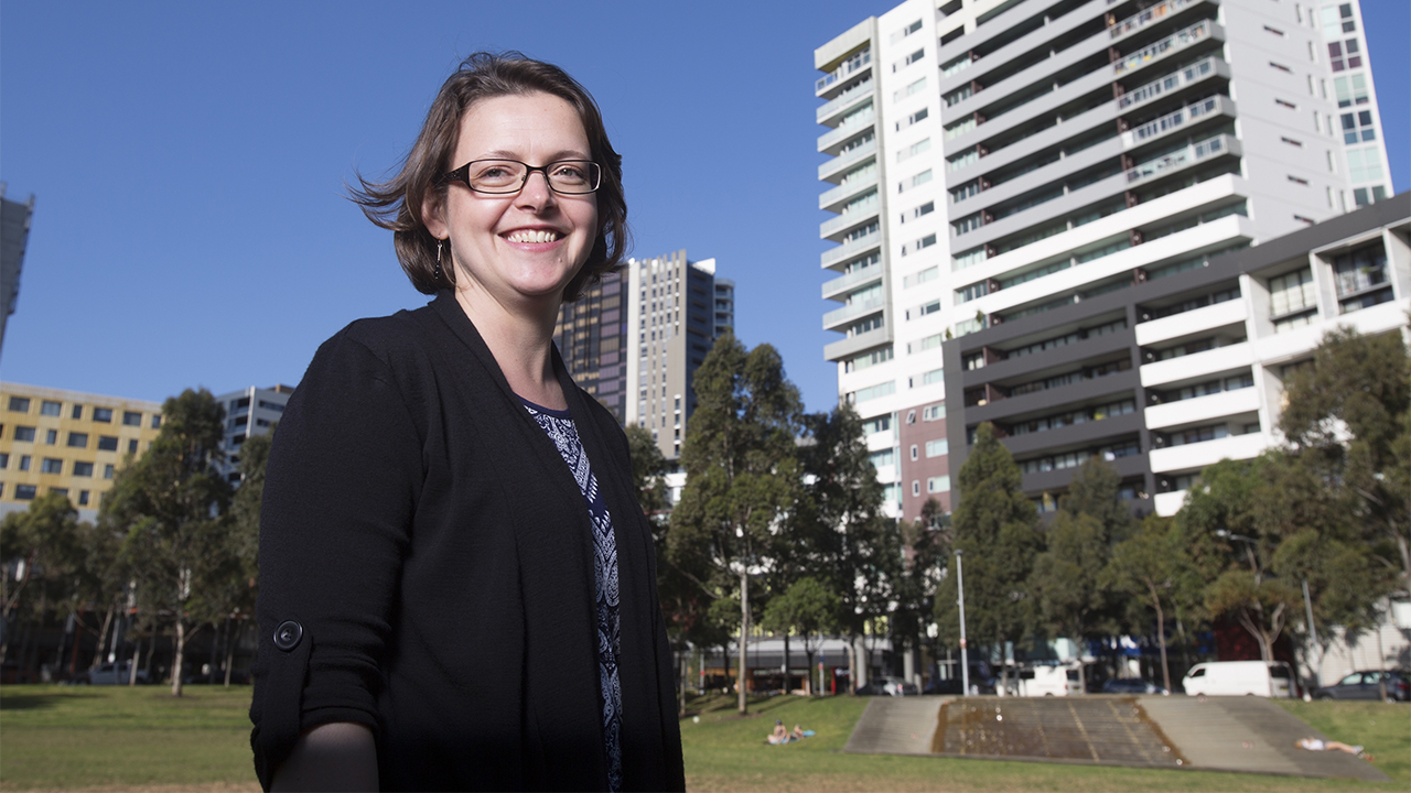 Associate Professor Hazel Easthope, from the City Futures Research Centre at UNSW Built Environment, is the lead author of the AHURI Improving outcomes for apartment residents and neighbourhoods report. Photo: Quentin Jones